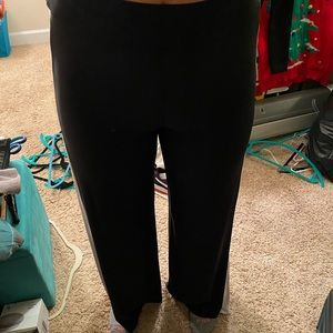 Black and White Side Slit Pants